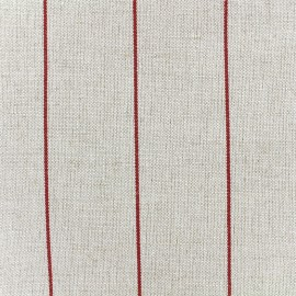 Deckchair striped metis canvas fabric (43cm) - red x 10cm