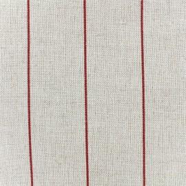 Tissu toile transat métis rayé - rouge x 10cm