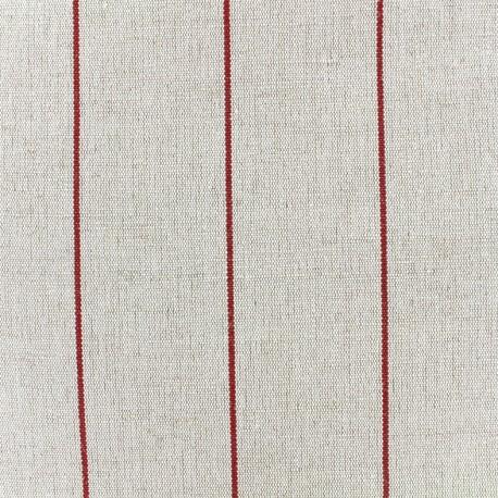 Deckchair striped metis canvas fabric (43cm) - red x 10cm