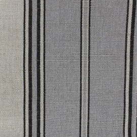 Deckchair striped metis canvas fabric (43cm) - grey x 10cm