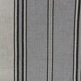 Tissu toile transat métis rayé - gris x 10cm