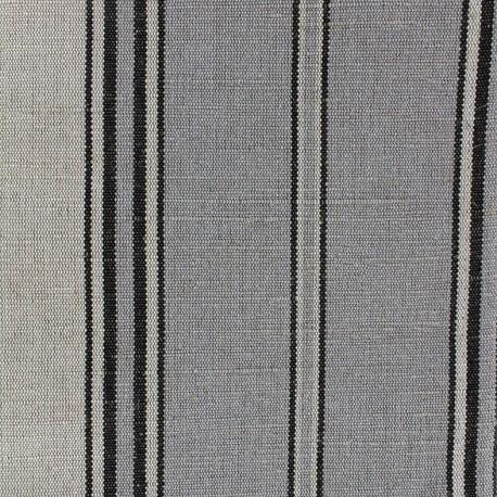 Deckchair striped metis canvas fabric (43cm) - grey x 10cm