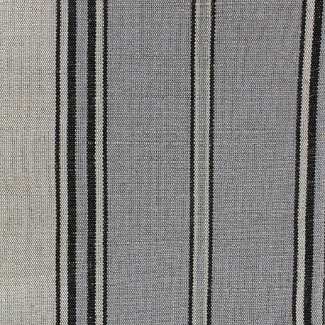 Tissu toile transat métis rayé (43cm) - gris x 10cm