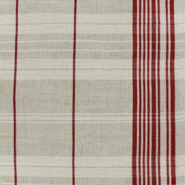 Tissu toile rondelette métis matelas - rouge x 10cm