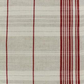 Tissu toile rondelette métis matelas - rouge x 15cm