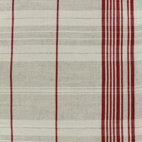 Rondelette metis mattress canvas fabric - red x 10cm