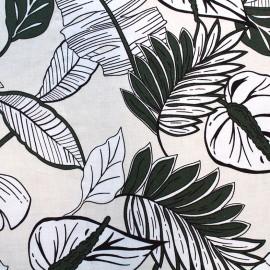 Tissu rayonne Leaf - vert x 10cm