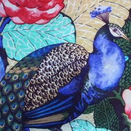 Tissu toile coton Roger - multicolore x 57cm