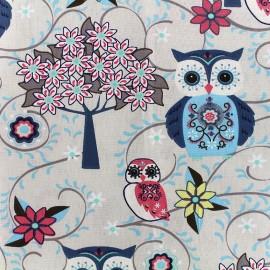 Tissu coton cretonne Juliane - bleu x 10cm