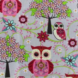 Tissu coton cretonne Juliane - rose x 10cm