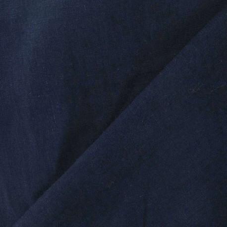 Tissu Lin marine  x 10cm