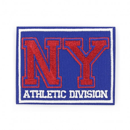 New York Athletic division iron on patch - blue/red