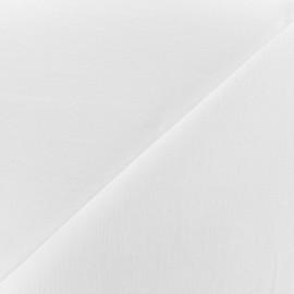 Tissu coton /lin grande largeur Berlin - blanc x 10cm