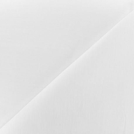 Tissu lin grande largeur - blanc x 10cm
