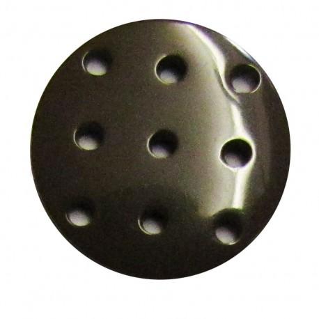 Cross-stitch button - brown