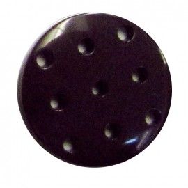 Cross-stitch button - dark purple