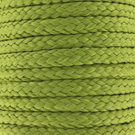 Braided cord 10mm - moss green x 1m