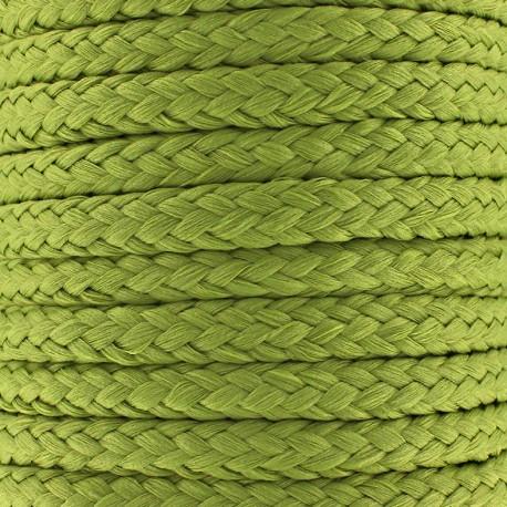 Cordon tressé 10 mm - vert olive x 1m