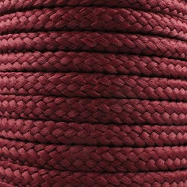 Braided cord 10mm - wine x 1m