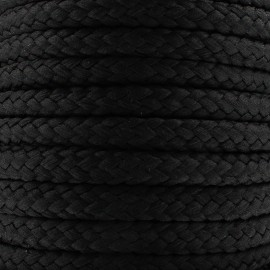Braided cord 10mm - black x 1m