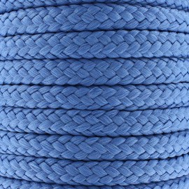 Braided cord 10mm - cornflower blue x 1m