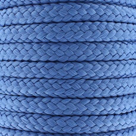 Cordon tressé 10 mm - bleu de France x 1m