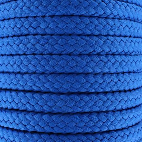 Cordon tressé 10 mm - bleu électrique x 1m