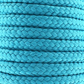 Cordon tressé 10 mm - bleu céleste x 1m