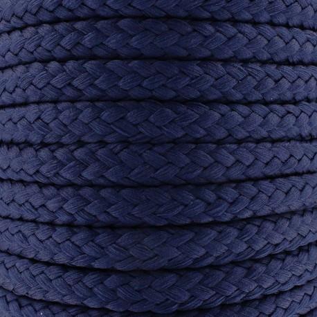 Cordon tressé 10 mm - bleu marine x 1m