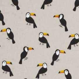 Cotton canvas linen look fabric - Toecan x 40cm