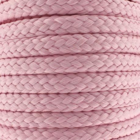 Cordon tressé 10 mm - rose x 1m