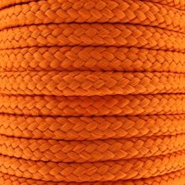 Braided cord 10mm - orange x 1m