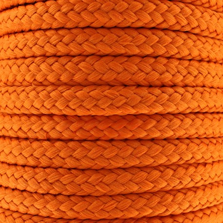 Cordon tressé 10 mm - orange x 1m