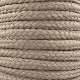 Braided cord 10mm - taupe x 1m