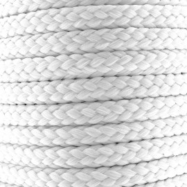 Cordon tressé 10 mm - blanc x 1m