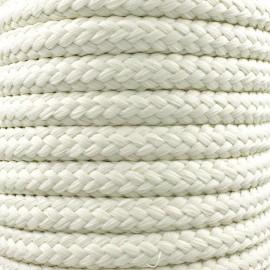 Cordon tressé 10 mm - ivoire x 1m