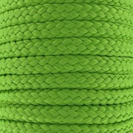 Braided cord 10mm - green x 1m