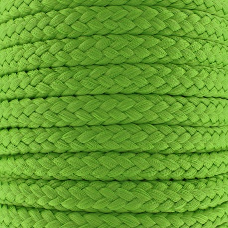 Cordon tressé 10 mm - vert x 1m
