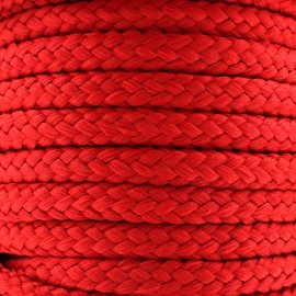Braided cord 10mm - rouge x 1m