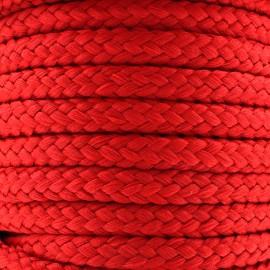 Cordon tressé 10 mm - rouge x 1m