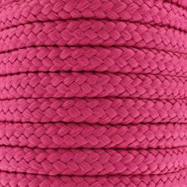 Braided cord 10mm - fuchsia x 1m