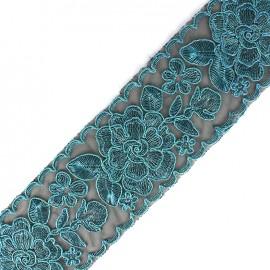 Ruban lurex Broderie d'Orient 70 mm - bleu x 50cm