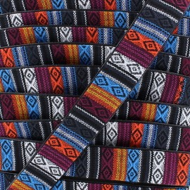 25mm leatherette lined strap - Chicachas x 1m