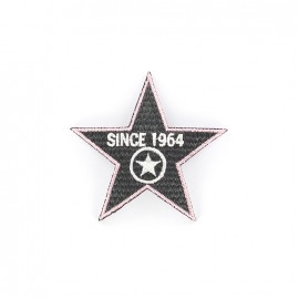 1964 Embroidered iron-on patch - grey