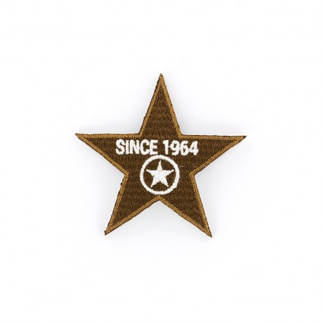 1964 Embroidered iron-on patch - brown