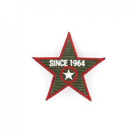 1964 Embroidered iron-on patch - khaki