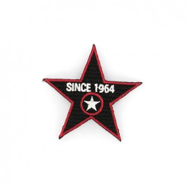 1964 Embroidered iron-on patch - black
