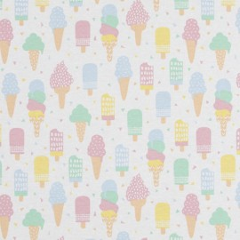 Tissu toile ottoman - Ice cream party x 31cm