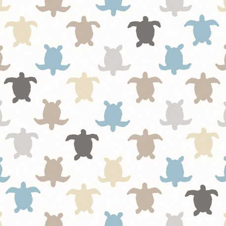 Tissu coton cretonne Hermann - taupe x 10cm