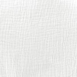 Tissu double gaze de coton MPM - milk x 10cm